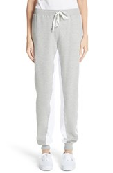 Clue Colorblock Track Pants Heather Grey