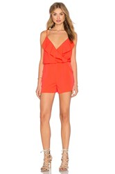 1. State Flounce Romper Orange