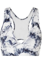 Varley Brooks Printed Stretch Sports Bra White