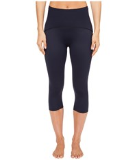 Spanx Shaping Compression Knee Pant Lapis Women's Workout Navy