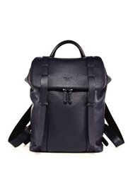 Giorgio Armani Leather Backpack Blue