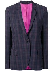 Paul Smith Ps By Check Blazer Blue