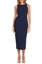 Michael Stars Women's Reversible Stretch Cotton Midi Dress