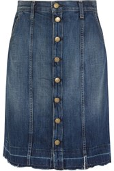Current Elliott The Short Sally Denim Skirt Mid Denim