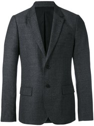 Ami Alexandre Mattiussi Lined Two Button Jacket Men Virgin Wool 52 Grey