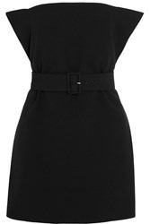 Solace London Ammie Strapless Belted Crepe Top Black
