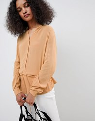 Mbym Sporty High Neck Top Brown