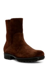 Aquatalia By Marvin K Locke Genuine Rabbit Fur And Shearling Lined Boot Brown