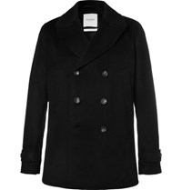 Hardy Amies Cashmere Peacoat Black