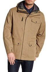 Free Country Peached Tri Blend Jacket With Inner Down Jacket Brown