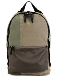 3.1 Phillip Lim Canvas Patchwork Backpack Green