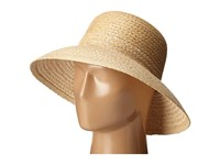 Lauren Ralph Lauren Braided Top Stitched Raffia Sun Hat Natural White Traditional Hats Beige
