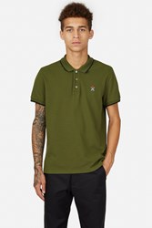 Opening Ceremony Torch Classic Fit Short Sleeve Polo Olive Green