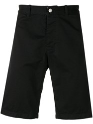 Edwin Knee Length Fitted Shorts Black