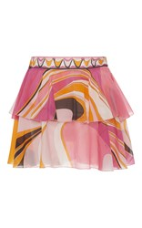 Emilio Pucci Tiered Mini Skirt Print