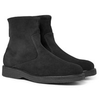Want Les Essentiels Stevens Shearling Lined Suede Boots Black