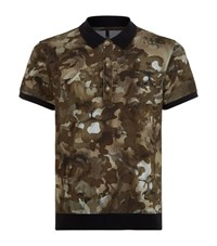 Versus By Versace Camouflage Lion Polo Shirt Male Green