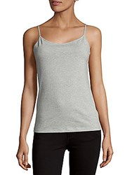 Saks Fifth Avenue Black Basic Camisole Light Grey