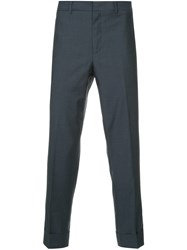 Ck Calvin Klein Cropped Suit Trousers Blue