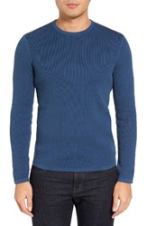 Theory Men's Savaro Breach Texture Cotton Knit Sweater Trim Multi