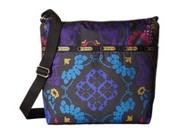 Le Sport Sac Small Cleo Crossbody Hobo Midnight Flower Patch Cross Body Handbags Black
