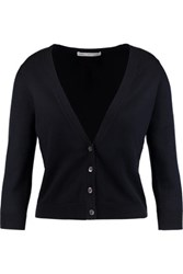 Autumn Cashmere Cropped Stretch Cotton Cardigan Navy