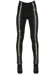 Balmain Gold Hooks Stretch Leggings