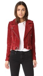 Blank Denim Moto Jacket Red My Mind