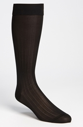 Pantherella Silk Ribbed Formal Socks Online Only Black