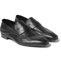 Berluti Lorenzo Leather Penny Loafers Black