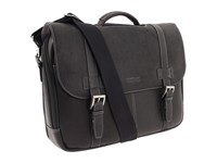 Kenneth Cole Reaction Colombian Leather Flapover Portfolio Computer Case Black Computer Bags