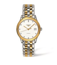 Longines Flagship Diamond Bicolour Watch Unisex White