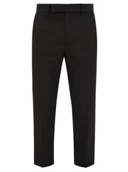 Haider Ackermann Miles Slim Leg Wool Crepe Trousers Black