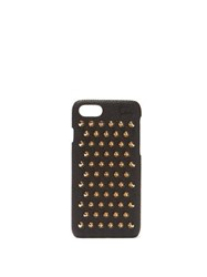 Christian Louboutin Loubiphone Leather Iphone 7 And 8 Case Black Gold