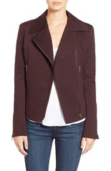 James Jeans Ponte Moto Jacket Deep Burgundy Ponte