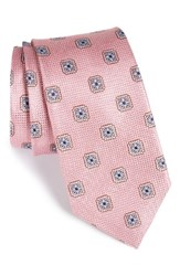 Nordstrom Men's Men's Shop Medallion Silk Tie Pink