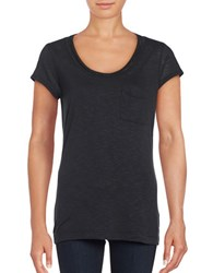 Calvin Klein Jersey Knit Chain Embellished T Shirt Black