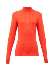 Fusalp Gemini Iii Half Zip Mid Layer Top Red