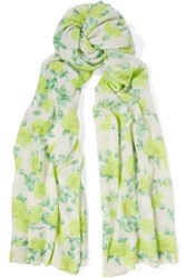 Autumn Cashmere Printed Scarf Lime Green