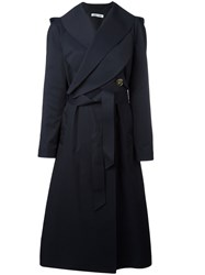 J.W.Anderson Crossed Front Belted Coat Blue
