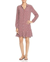 Scotch And Soda Floral Print Shirt Dress Dark Red Mini Print