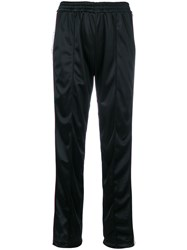 Forte Couture Side Logo Track Pants Cotton Polyester Acetate Viscose Black
