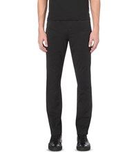 Michael Kors Slim Fit Tapered Stretch Cotton Chinos Black