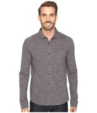 Prana Jerricho Button Down Gravel Men's Clothing Silver
