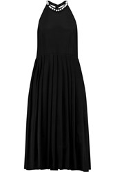 Natasha Zinko Faux Pearl Embellished Faille Dress Black