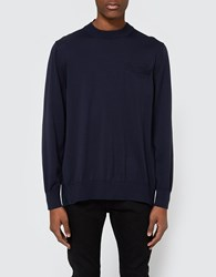 Sacai Oxford Shirting Pullover Navy