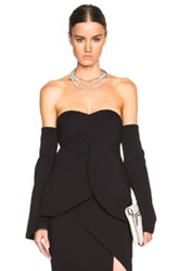 Nicholas Swing Hem Bustier Top In Black