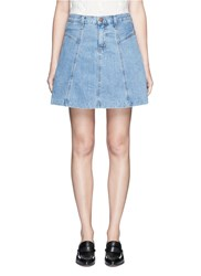 Current Elliott 'The Skater' Denim Skirt Blue