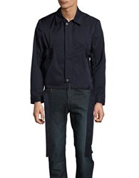 Carlos Campos Belted Zip Front Jacket Navy