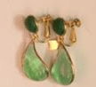Loulou De La Falaise Seagreen Green Earrings With Glass Paste And 24 Carats Gold Plating
